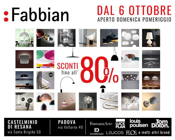 Fabbian Promo Outlet 2018