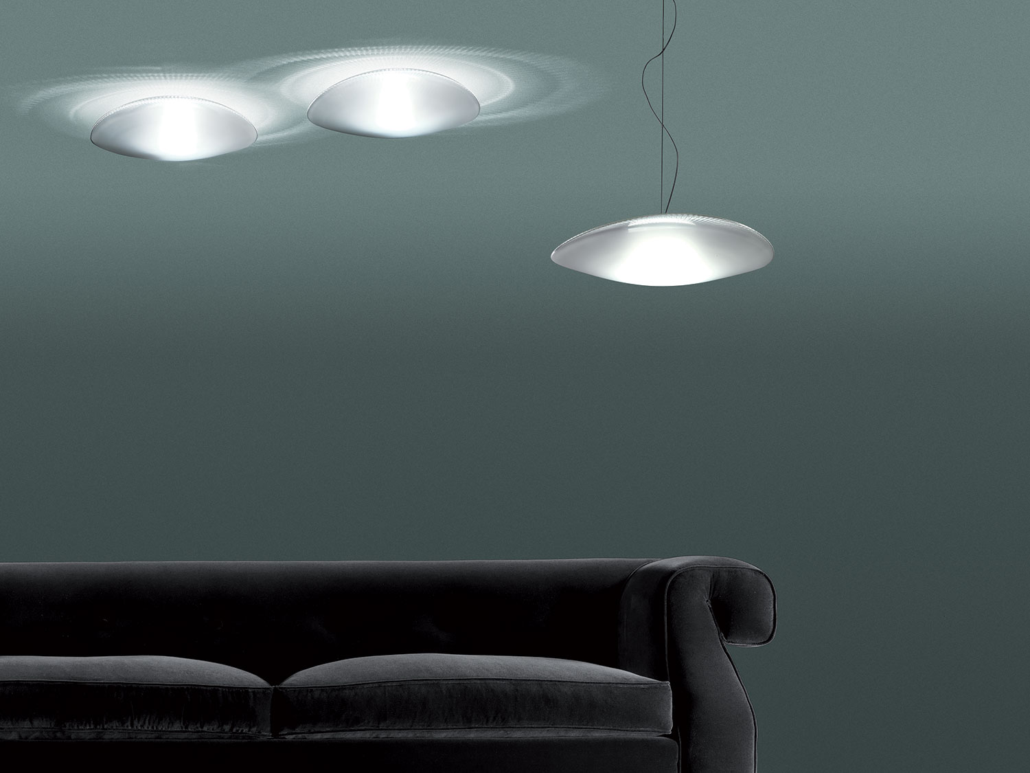 F loop collection lamps and chandeliers fabbian illuminazione