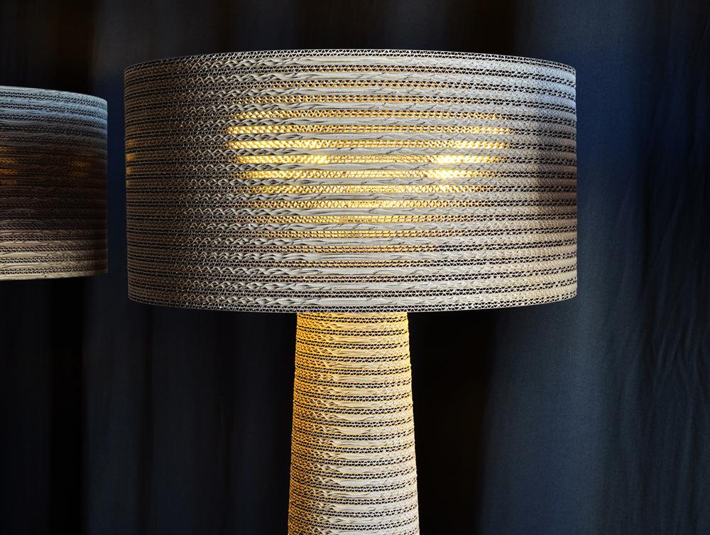 Nascono le lampade ecologiche in cartone riciclato al 100% fabbian