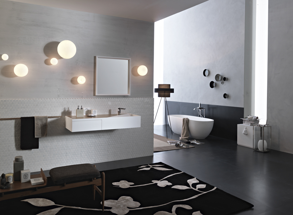 Mochi and sfera for the bathroom environment fabbian