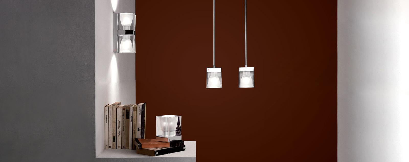 D28 Cubetto collection - Lamps and Chandeliers Fabbian Illuminazione