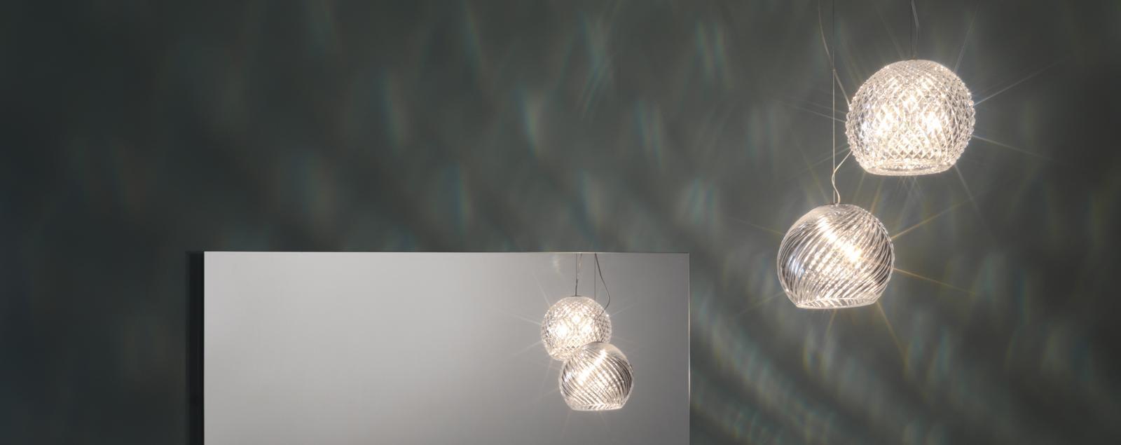D82 Diamond-Swirl chandelier - Fabbian Illuminazione