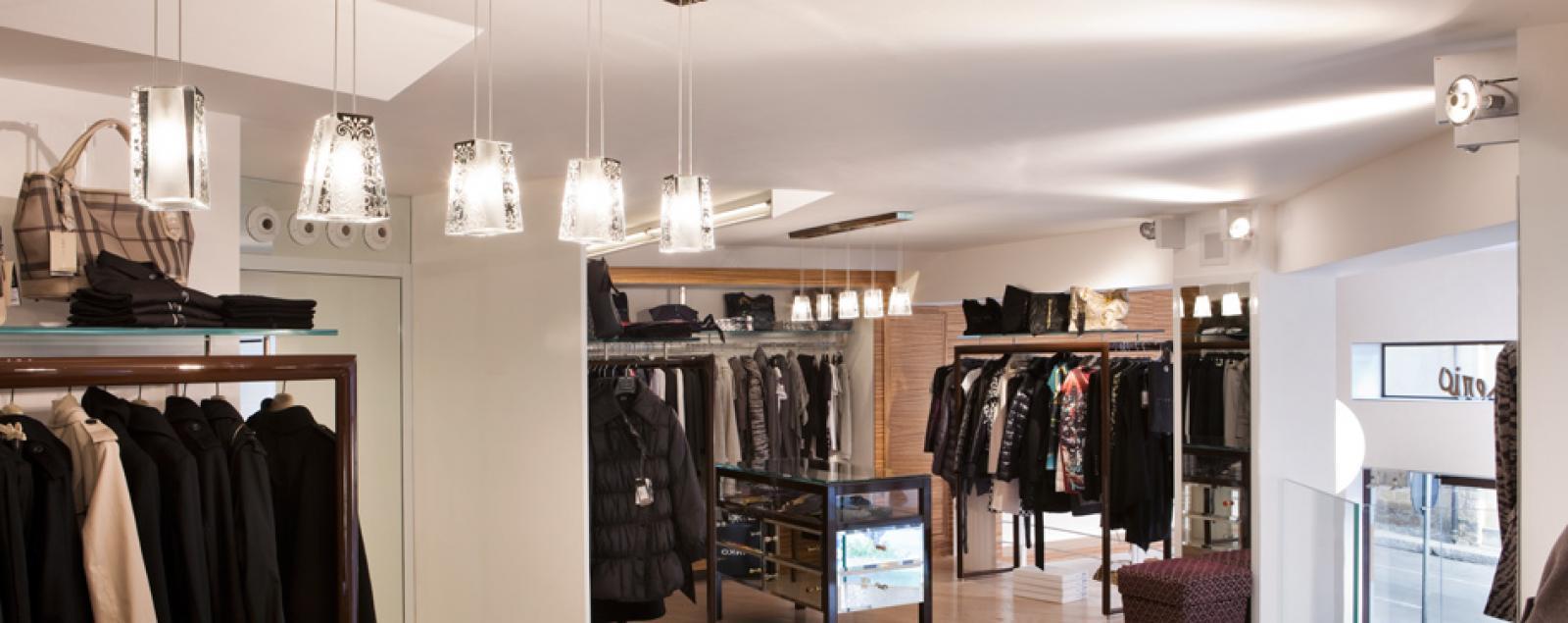illuminazione negozio abbigliamento lampade vetrine On illuminazione negozi